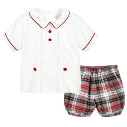 Pretty Originals DL61750 Boys check shorts and shirt set