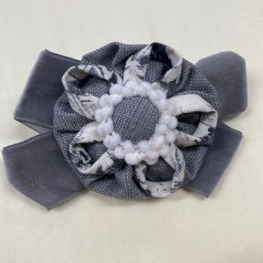Babine hair clip, grey, cream. 2112922